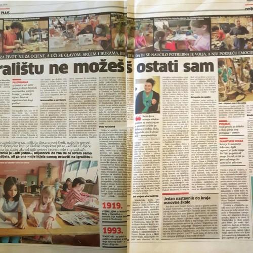 Mediji o waldorfskoj školi u Zagrebu
